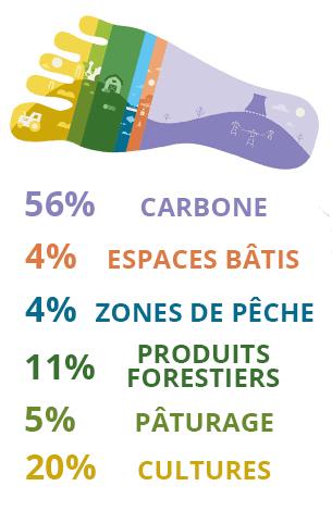 Empreinte écologique en pourcentages par industrie