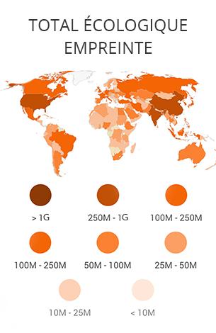 Empreinte écologique totale par pays en 2017